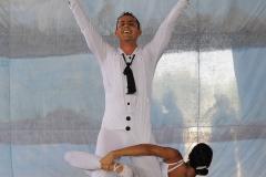 Una danza bien atractiva causó asombro en los presentes Foto Carlos Rafael